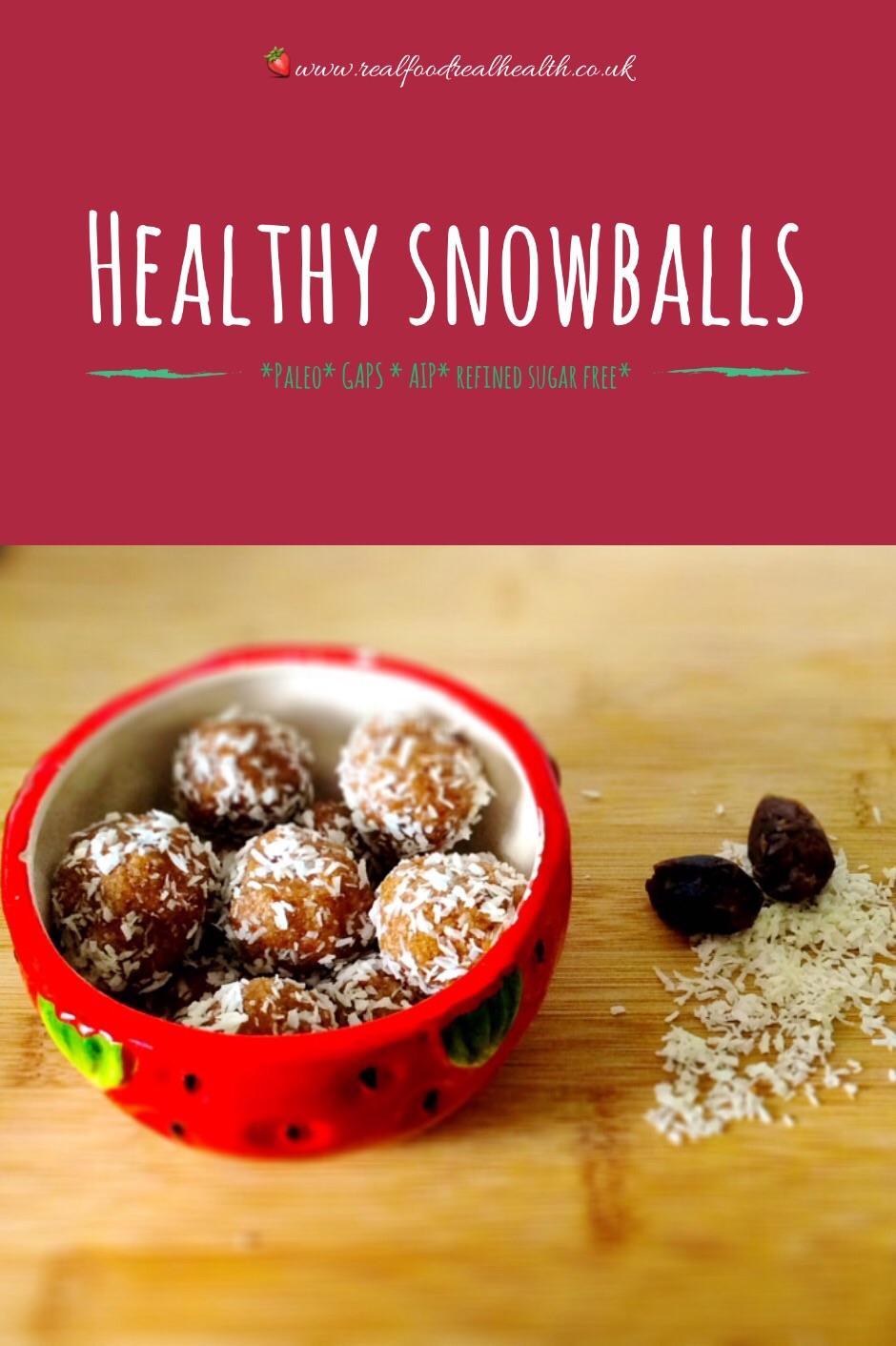 Healthy Snowballs