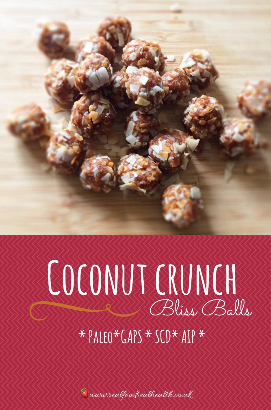 Coconut Crunch Bliss Balls